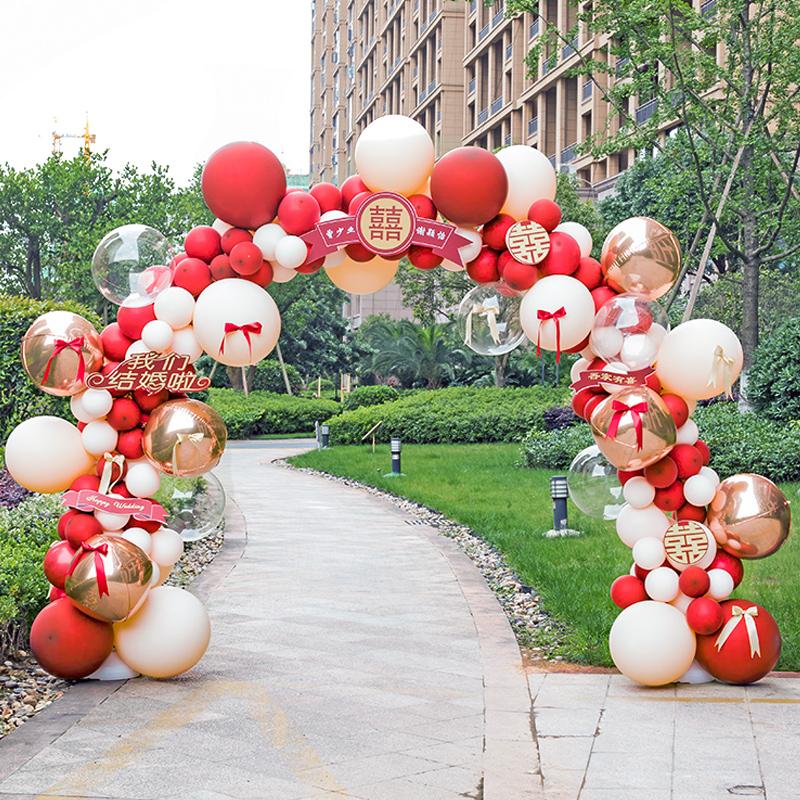 气球拱门支架子折叠开业结婚庆典婚礼创意生日布置装饰汽球金属球