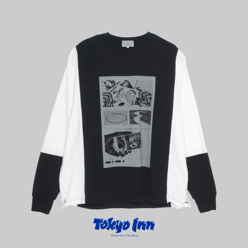 【国现】CAV EMPT/CE SILVER CARD LONG SLEEVE T黑白长袖