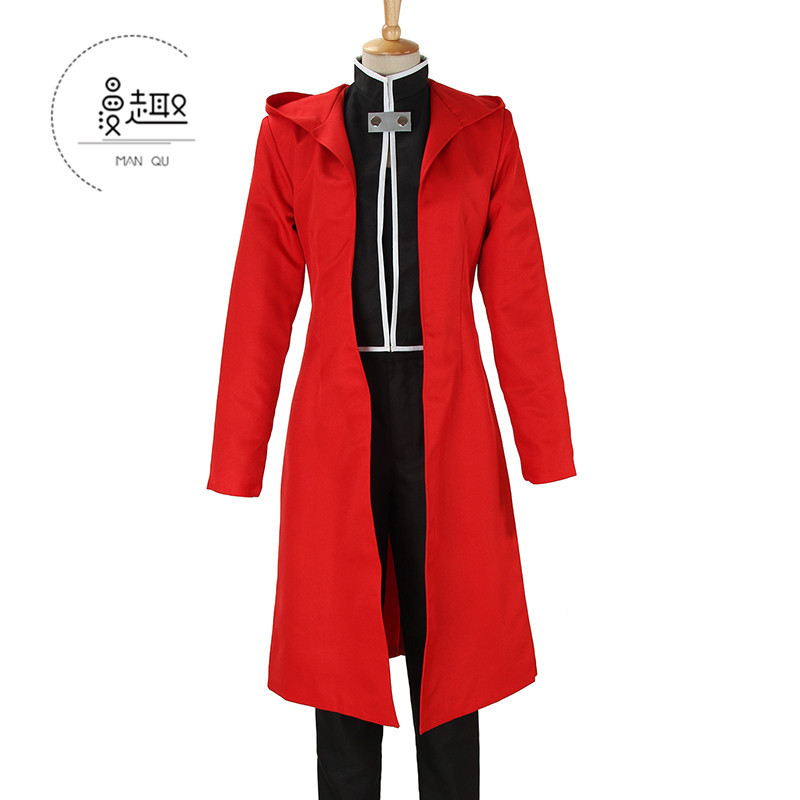 [fun] steel alchemist steel Edward full set of red cape cos clothing Cosplay clothing