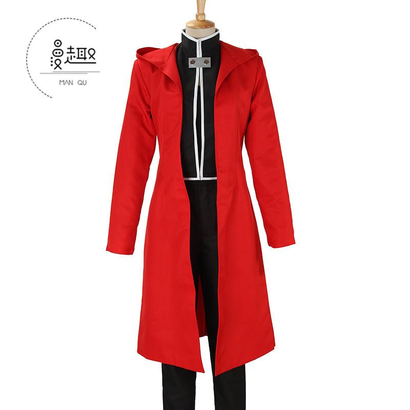 【漫趣】鋼の錬金術師鋼煉エドワード全套赤いマント衣装コスプレ衣装