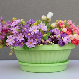 绿萝专用大花盆树脂塑料加厚吊兰圆形花盆四脚半球阳台花盆特价