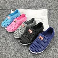 越南橡胶男女套脚洞洞鞋柔软舒适透气运动休闲鞋登山跑步工作凉鞋