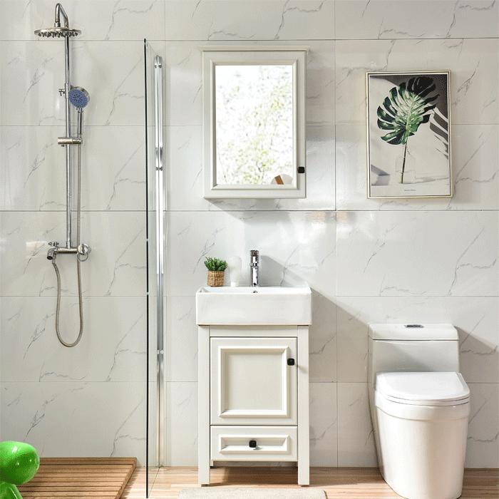 11-20新券浴室柜整体小户型碳纤维镜柜台上盆