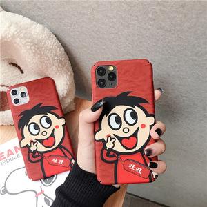 红色卡通适用苹果11pro手机壳xs max透明iphone7磨砂8p硬壳6splus