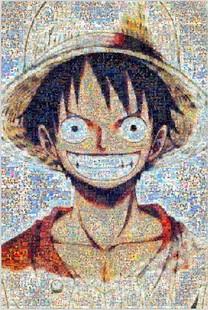 馬賽克路飛拼圖海賊王1000片成人木質笑臉動漫抖音周邊卡通