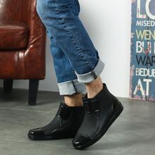 短筒女雨鞋男时尚潮低帮水鞋男平底雨靴厨房工作防滑水靴防水胶鞋