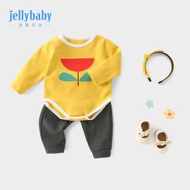 女婴套装两件套 洋气0-1岁新生儿女宝宝春装婴儿幼儿春秋婴童衣服图片