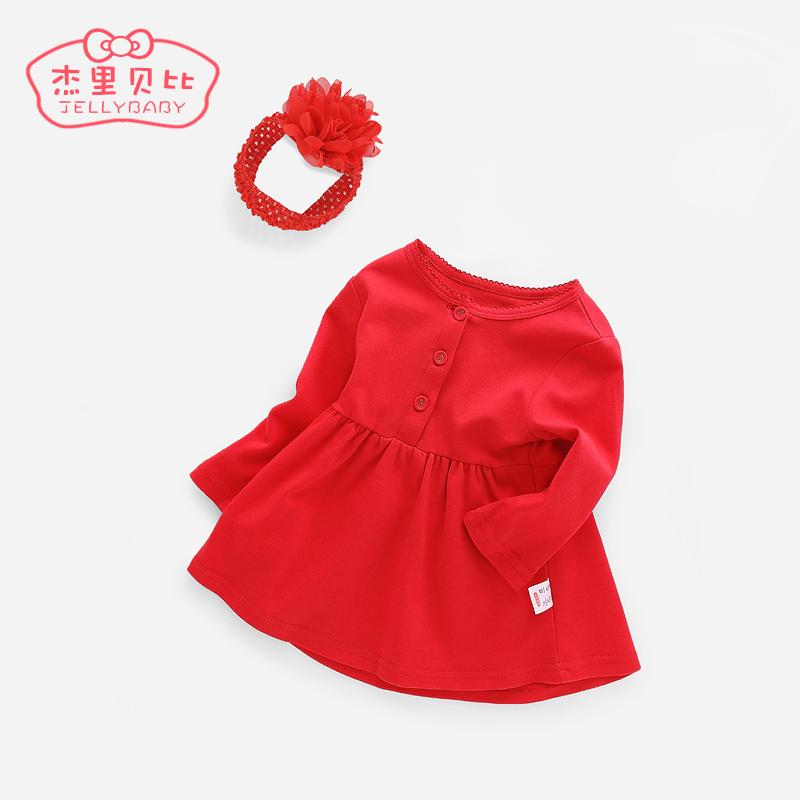 婴儿裙子夏0-1岁满月宝宝衣服女纯棉女童连衣裙春秋3婴幼儿公主裙
