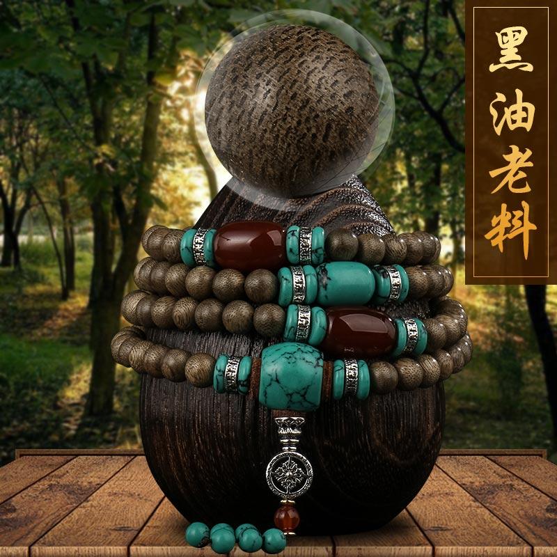 Дерево это лес православная школа культура сорняки старый материал ладан браслеты 108 звезды бисер деревянный цепь верность природный мужской и женщины