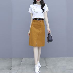 夏装2020年新款潮印花短袖一步裙