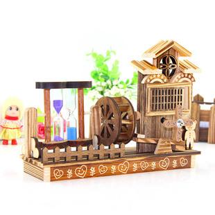 热卖计时摆件音乐盒创意其他生日礼物木质z30工艺品
