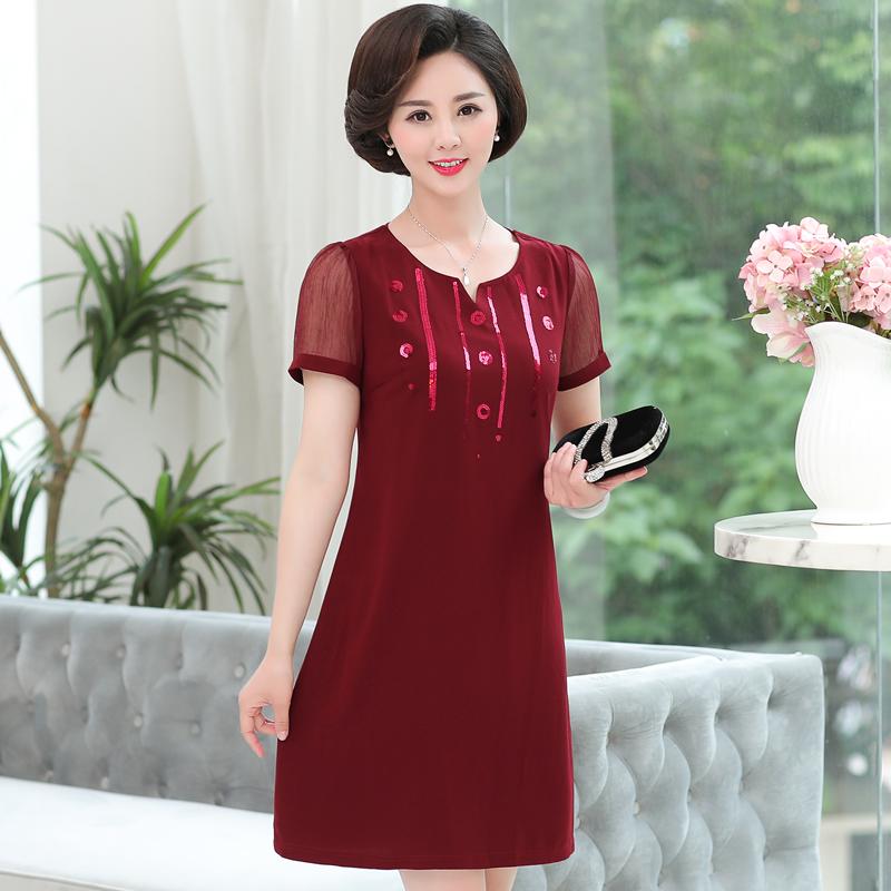 中年女装夏装短袖