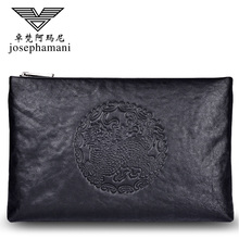 Zhuofan Armani Men's Handbag 2019 New Trendy Men's Genuine Leather Large Capacity Leisure Handbag Envelope