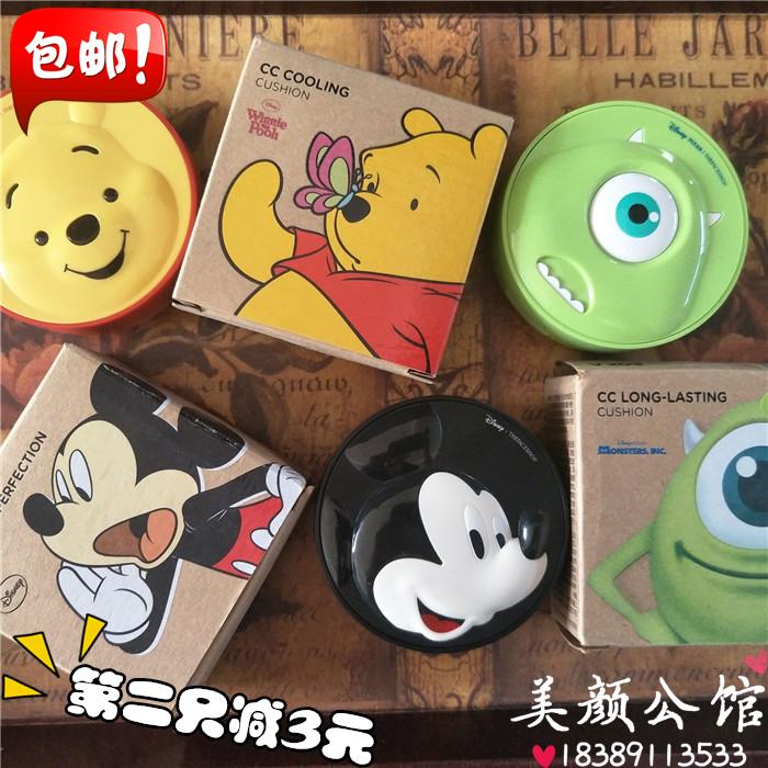 韩国the face shop菲诗小铺迪士尼气垫BB霜cc霜保湿粉底液隔离霜图片