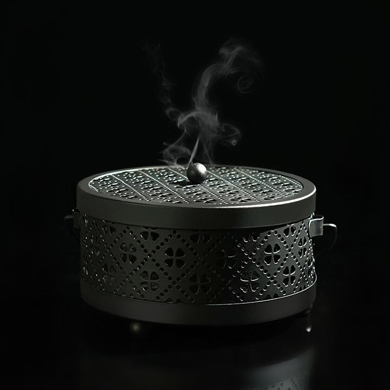 蚊香盒带盖防火家用蚊香盘托创意蚊香架室内户外便携式手提蚊香炉图片