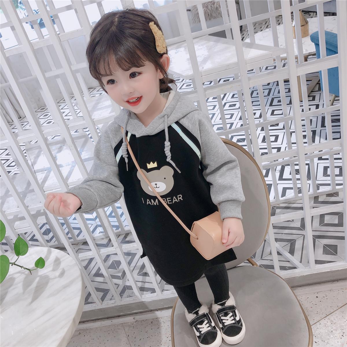 女童连帽2020新款儿童韩版洋气卫衣