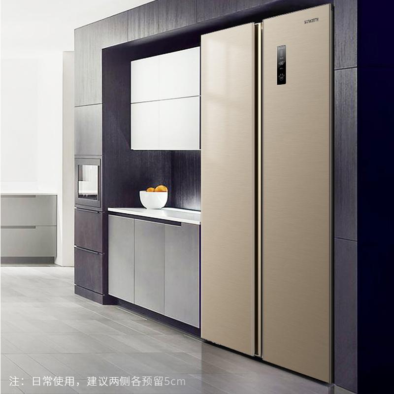 创维双开门408升变频风冷电冰箱