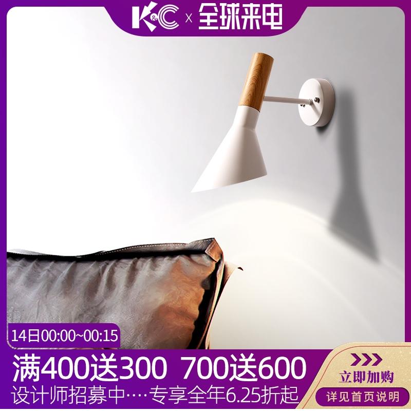 现代简约壁灯北欧过道走廊房间卧室床头创意墙灯led卫生间镜前灯