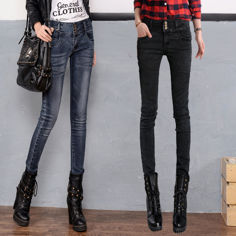 ハイウエストにジーパン、レギンス、2020年春新型高身長超ロングサイズの女性ズボン