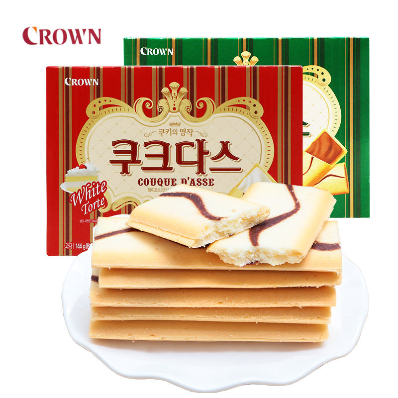 Korean imported food crian Cream Coffee omelet sandwich biscuit Weihua childrens snack net red snack