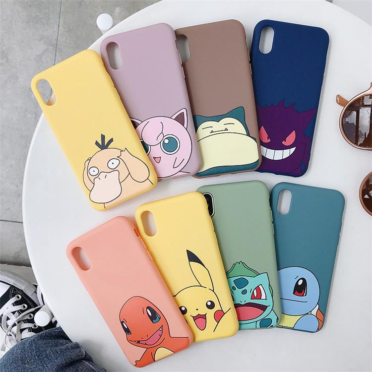 宠物小精灵iphoneXSMAX可爱XR手机壳苹果7口袋精灵8plus磨砂6软套