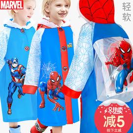 迪士尼儿童雨衣男童蜘蛛侠带书包位加厚小孩宝宝幼儿园小学生雨披图片