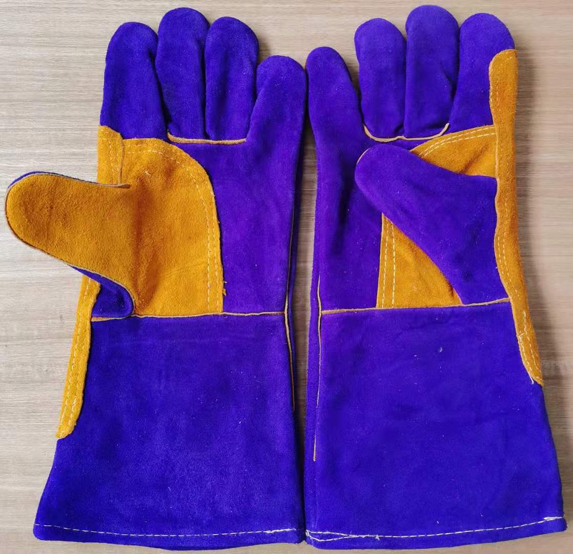 Welding gloves for welders, leather, high temperature resistant, scald resistant, wear-resistant, fire-resistant, long-term labor protection gloves