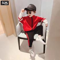 左西童装男童套装春装2020新款儿童春款中大童韩版运动男孩帅气潮