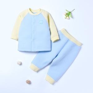 婴儿保暖内衣套装0-1-3岁纯棉秋衣服