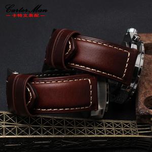 领3元券购买休闲牛皮表带 代用沛纳海 Fossil化石男士FS5088 FTW1114 22 24mm
