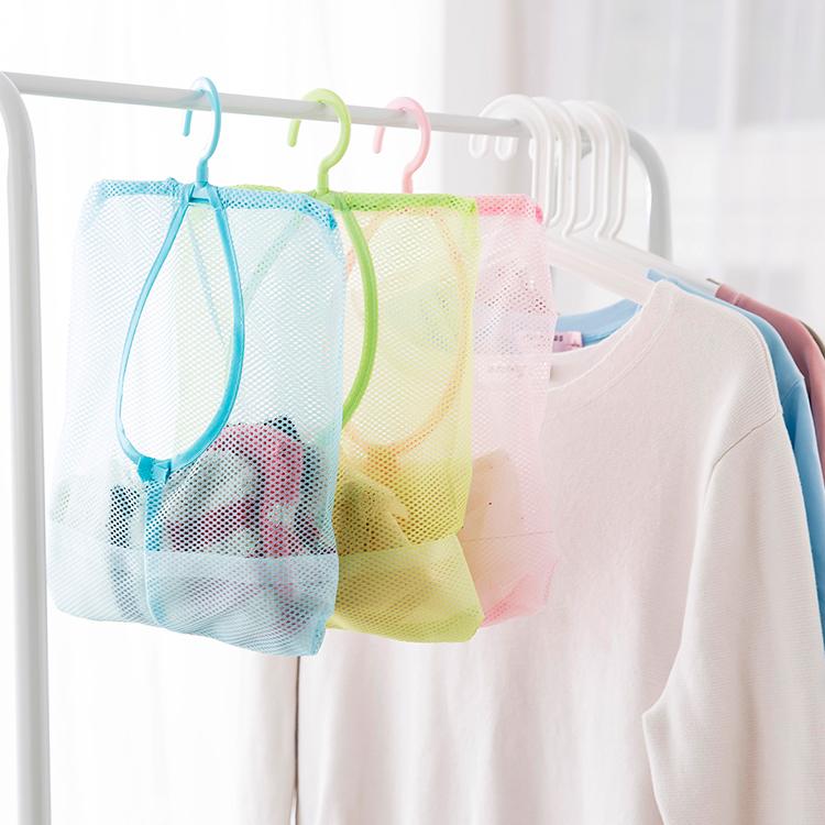 懸掛式衣櫃可掛式內衣收納網袋曬衣夾子網 廚房浴室牆掛多用掛袋