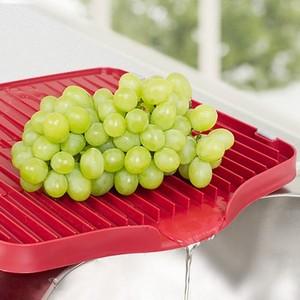 纳川品牌 置物玻璃杯架 果盘 硅胶材质杯子沥水托盘 蔬菜水果盘
