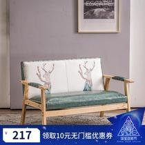 奶茶店桌椅组合网红咖啡厅甜品创意简约休闲个性清新双人卡座沙发