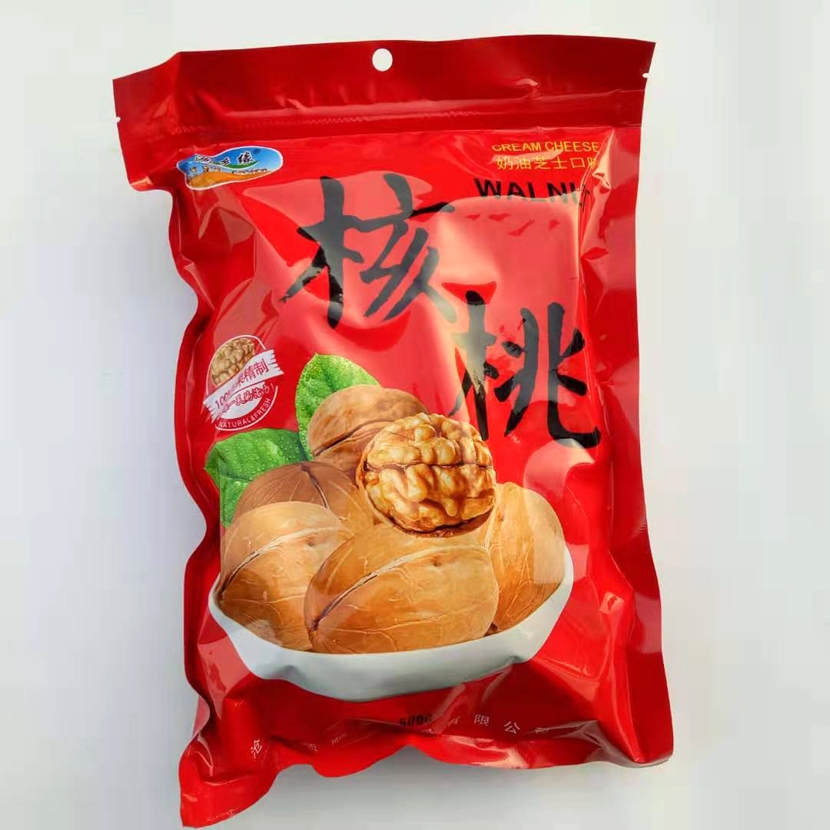 Hongxiangyuan 2020 new product thin skin roasted fried walnut cream cheese cooked office snack nuts 500g package