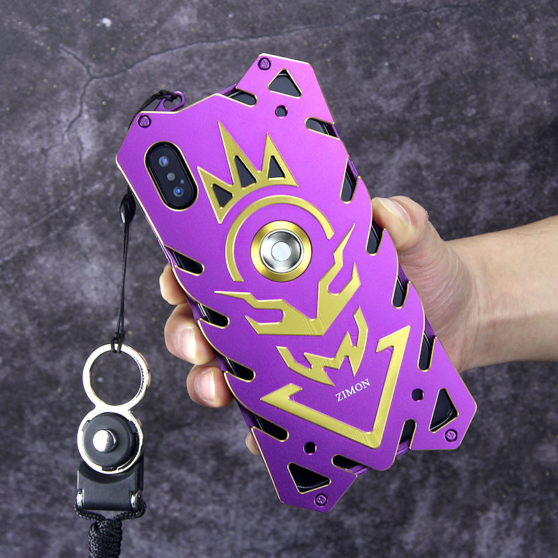 SIMON New THOR II Magnetic Bracket Aviation Aluminum Alloy Shockproof Armor Metal Case Cover for Apple iPhone X