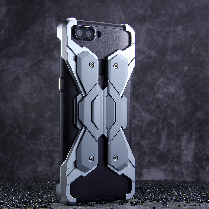 Luphie Neo Armor EVA Wings Shockproof TPU Metal Case Cover for OPPO R11s & OPPO R11s Plus
