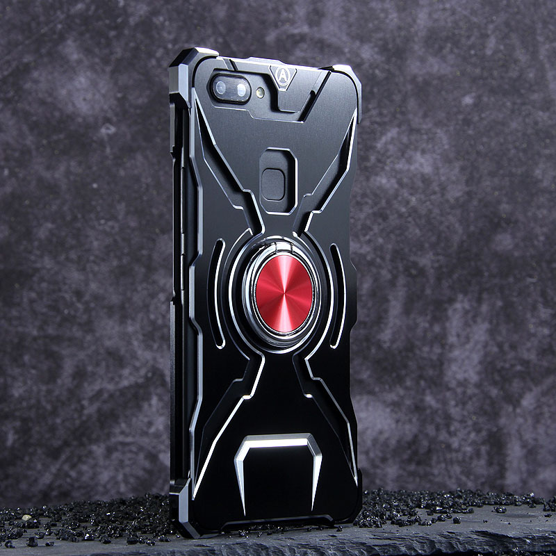 WK Iron Man Military Grade Shockproof Screw-less Metal Case w/ Ring Holder for vivo X20 Plus & vivo X20