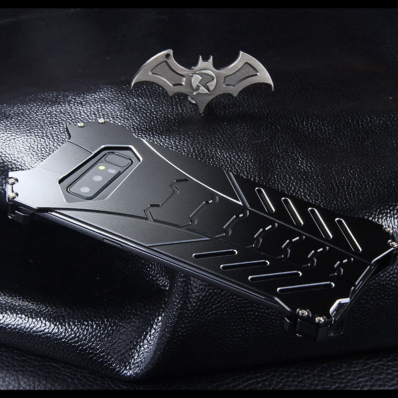 new style bd706 c4d39 R-Just Batman Shockproof Aluminum Shell Metal Case with Custom ...