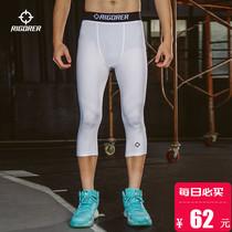 准者运动紧身裤男七分压缩裤夏季薄款健身跑步高弹篮球训练打底裤