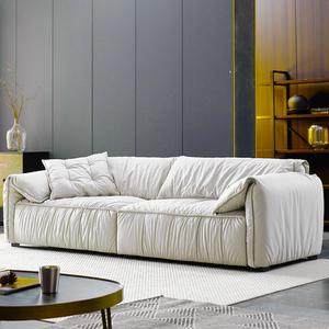 新款科技布沙发小户型北欧免洗双三人位客厅现代简约休闲懒人羽绒