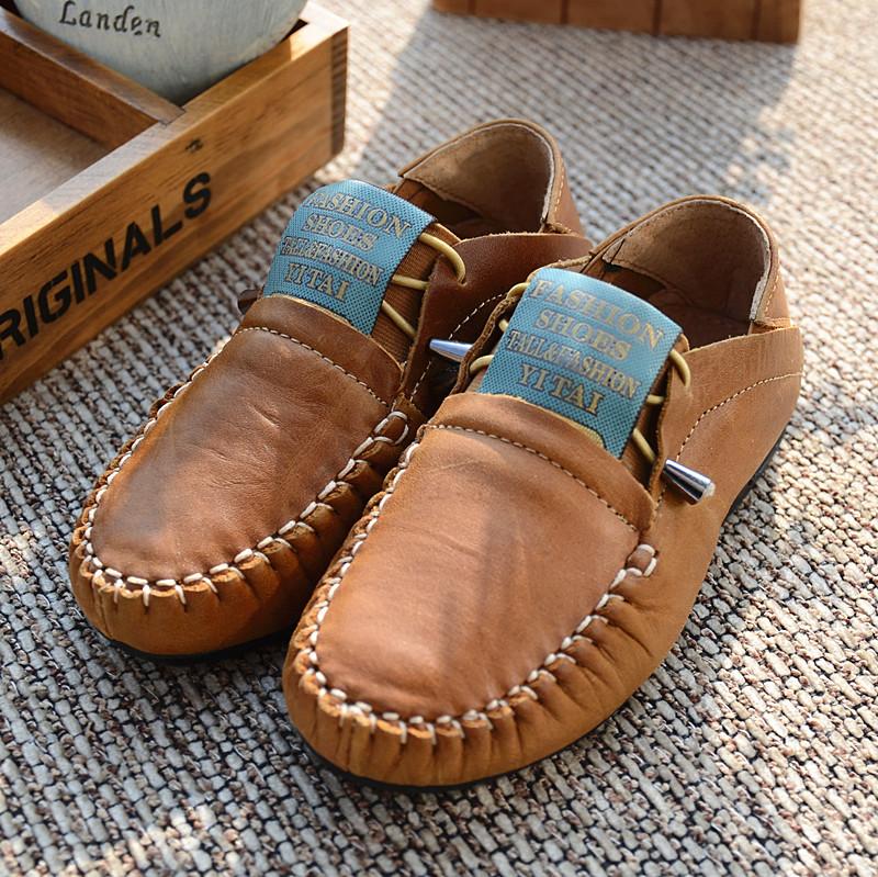 Clairey детской обуви кожа коровьей Англии Beanie мальчиков Туфли кожаные туфли вспышки Хань издание спортивный пакет почта