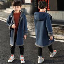 男童秋冬长款毛呢外套2020新款儿童装加厚妮子韩版洋气呢子大衣潮