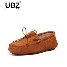 УБЗ 2016 горох обувь Натуральня кожа универсальный плоский обувь женская в конце периода весны и осени луков ленивый отдых обувь
