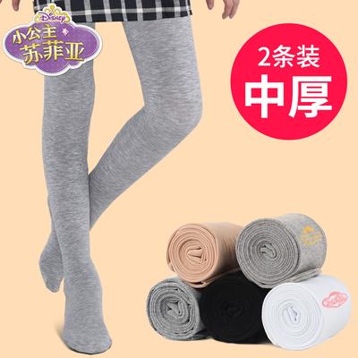女童连裤袜春秋儿童打底裤薄款连体袜加绒加厚白色长筒舞蹈袜专用