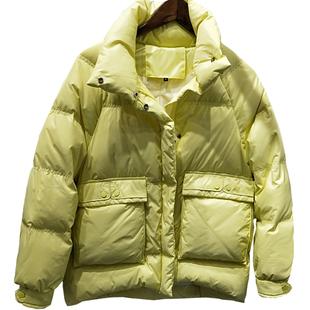 2019新款羽絨服女短款90白鴨絨麪包服寬鬆韓版學生小個子冬外套潮