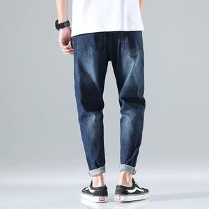 XZ304B-2-B夏季侧边红色刺绣哈伦牛仔裤薄款,男装牛仔裤,星座304B-2