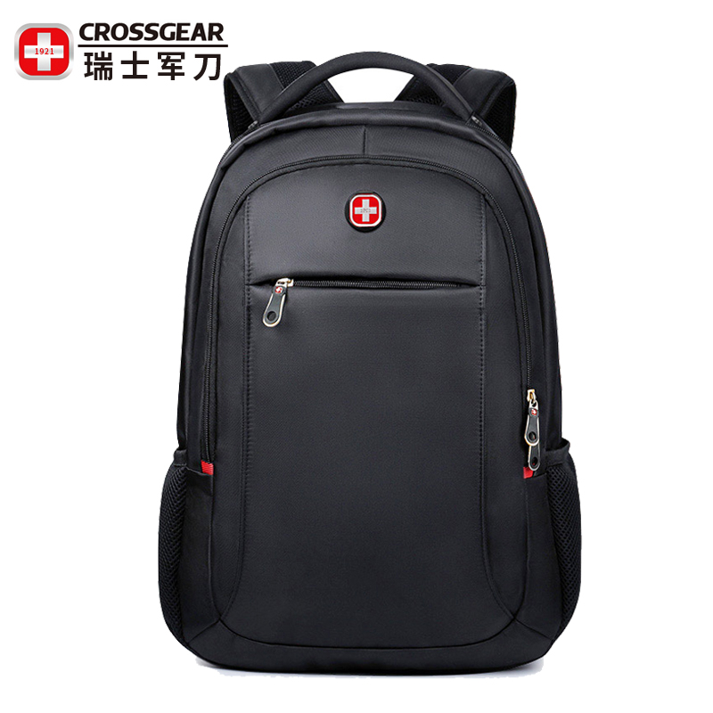 Swiss Army knife mens business computer backpack multi function large capacity anti theft simple travel schoolbag