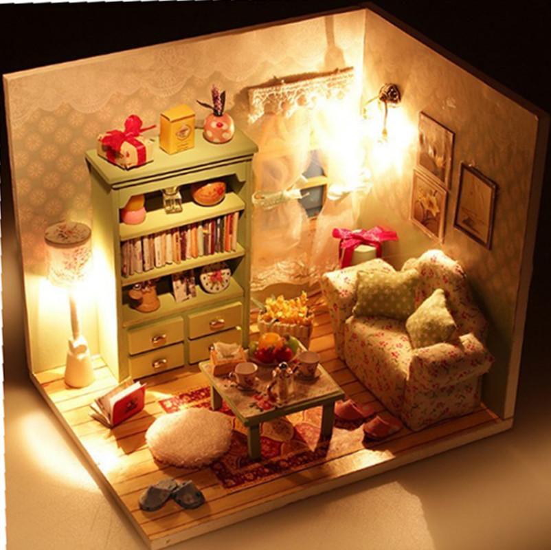 弘达DIY小屋创意迷你手工制作房子小模型玩具女生公主房 女孩礼物