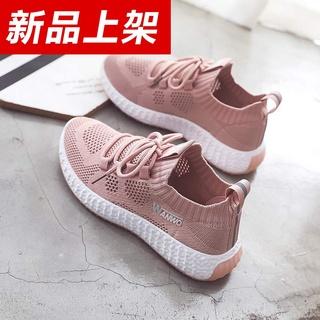 新款女鞋2020新款夏季运动鞋休闲网面百搭透气春款平底鞋子单鞋女
