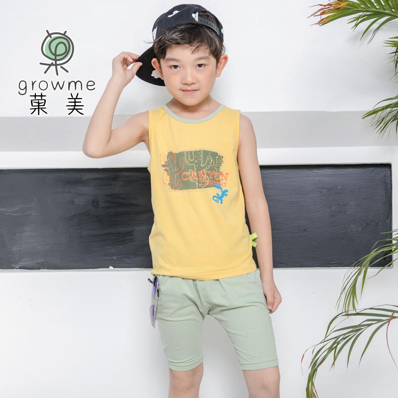 棉儿童短袖吸汗透气舒适家居服内衣套装夏季